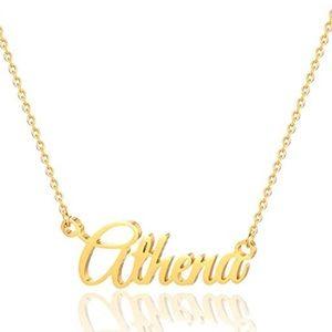 Athena Name Necklace